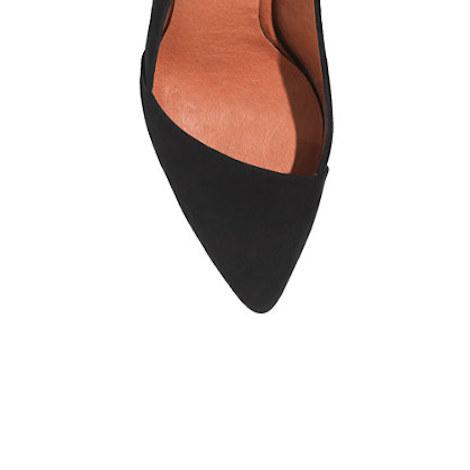 slanted heel