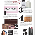 October beauty magazine article