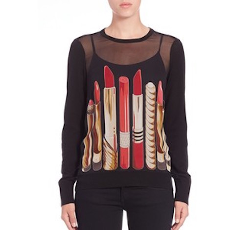 equipment roland lipstick-print top