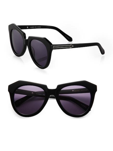 karen walker black number one plastic sunglasses