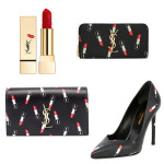 Saint Laurent Lipstick-Print