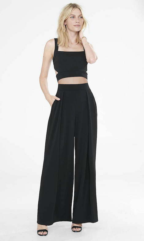 express crop top and wide leg pants