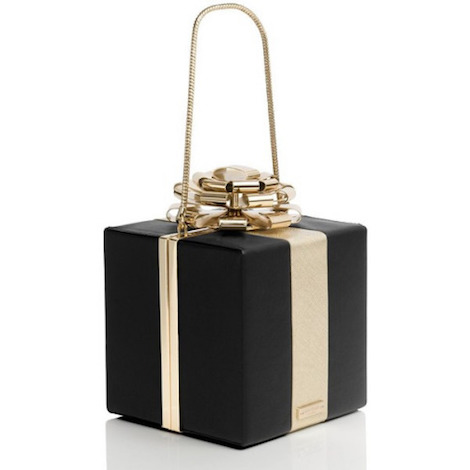 kate spade square gift box clutch