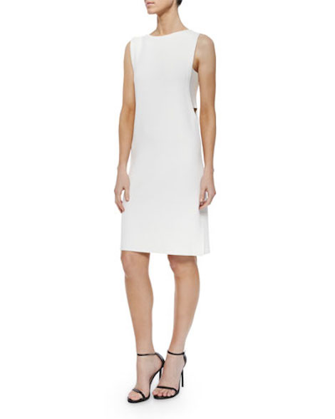 Derek Lam 10 Crosby Sleeveless Side-Cutout Shift Dress