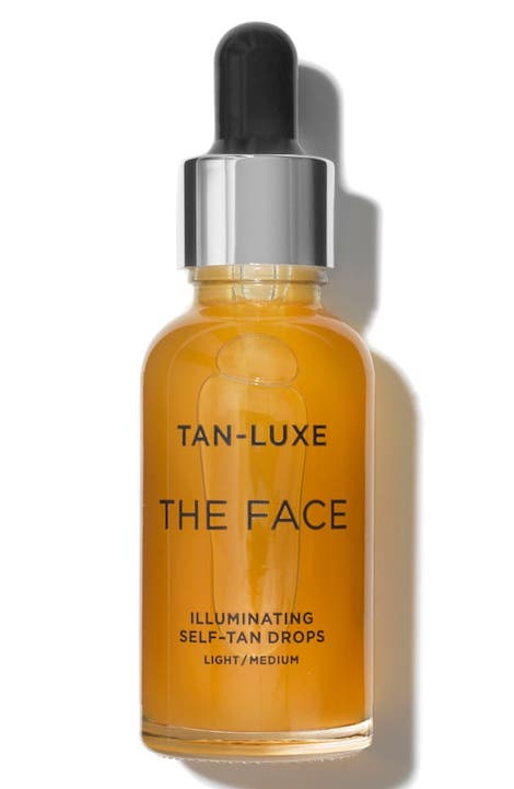 tan luxe illuminating face drops